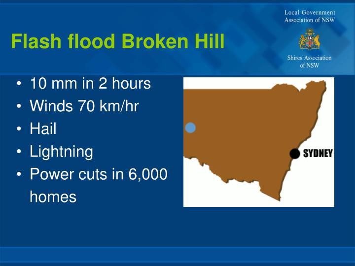 Flash flood Broken Hill