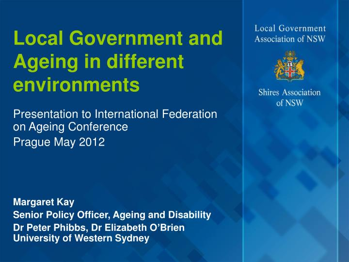 local government and ageing in different environments