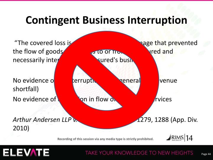 Contingent Business Interruption