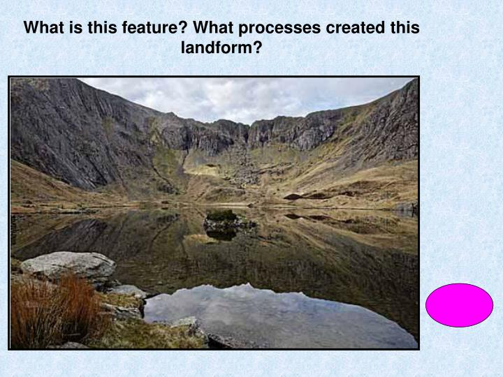 What is this feature? What processes created this landform?
