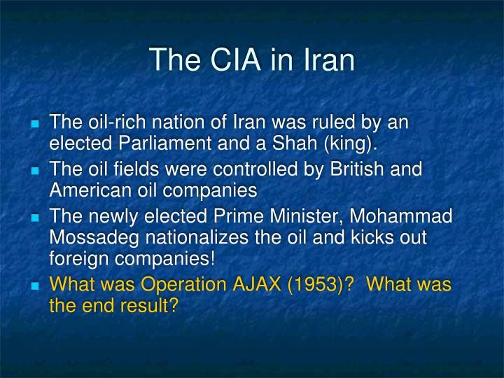 The CIA in Iran
