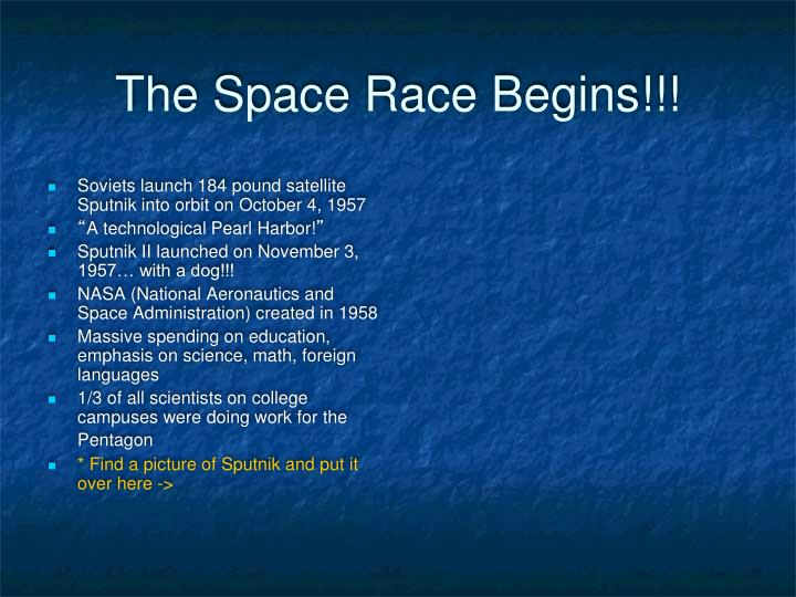The Space Race Begins!!!