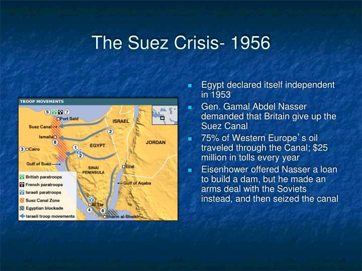 The Suez Crisis- 1956