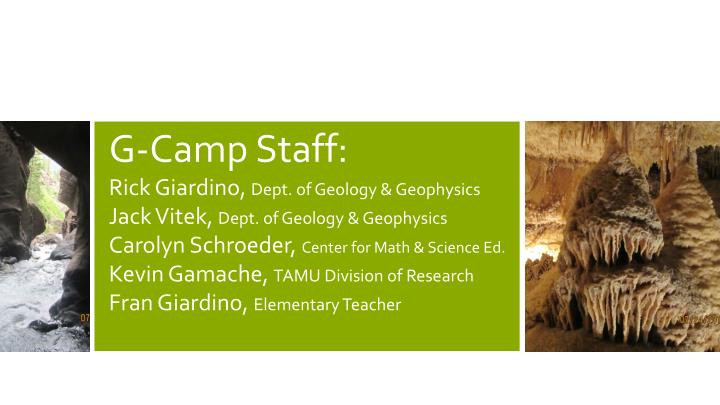G-Camp Staff: