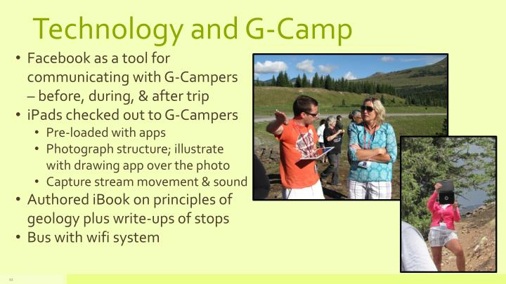 Technology and G-Camp