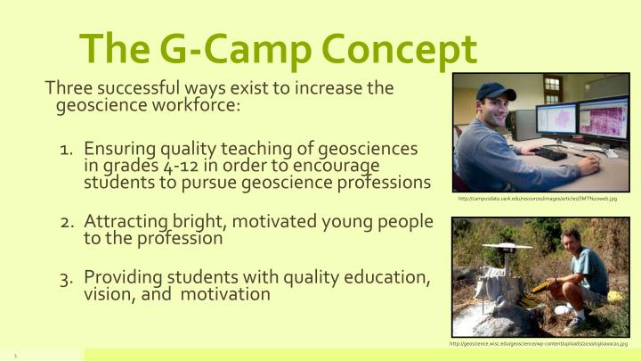 The G-Camp Concept