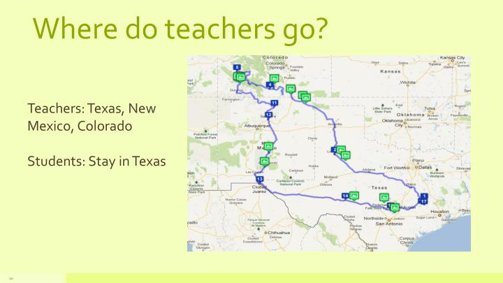 Where do teachers go?