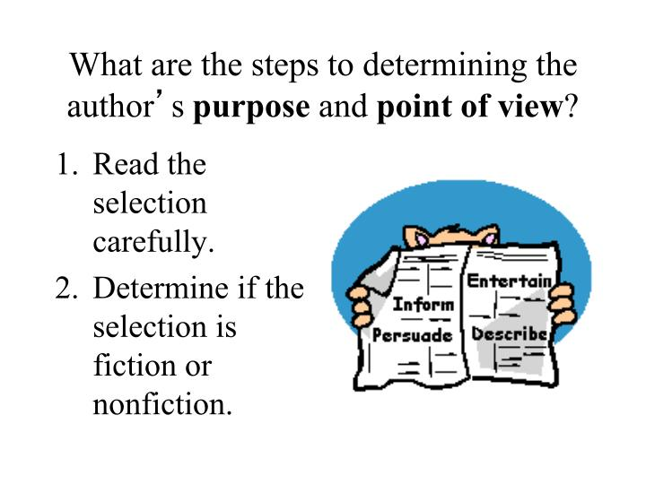 What are the steps to determining the author