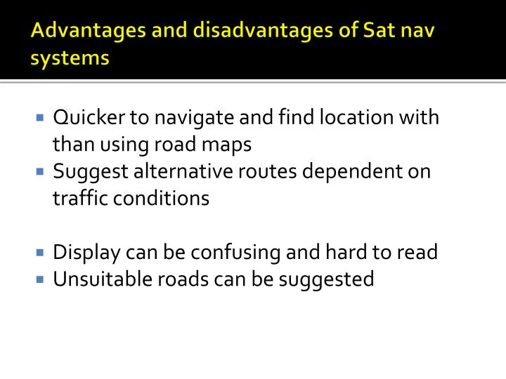 advantage and disadvantage of sat Setting up satellite service for your rv is easy and you can get both internet and tv all you need to do is buy a satellite dish that is made for an rv and install it one of the most common types of dish antennas are the tripod dishes.