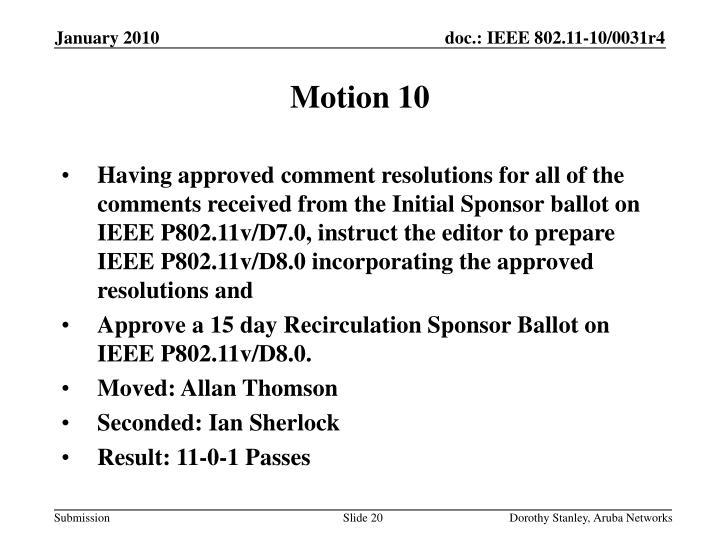 Motion 10