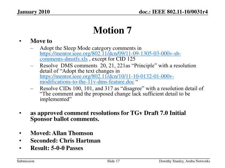 Motion 7