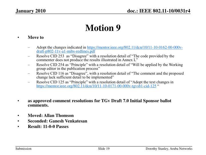 Motion 9