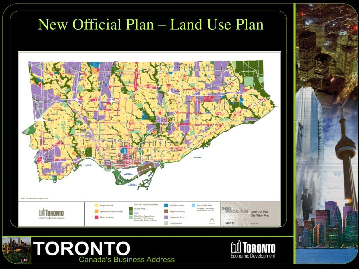 New Official Plan – Land Use Plan