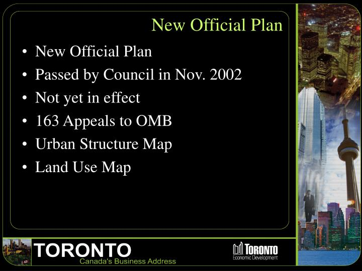 New Official Plan