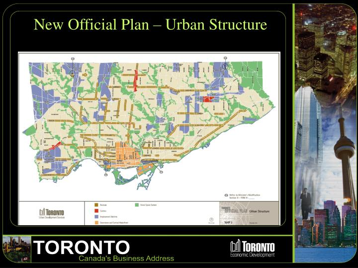 New Official Plan – Urban Structure