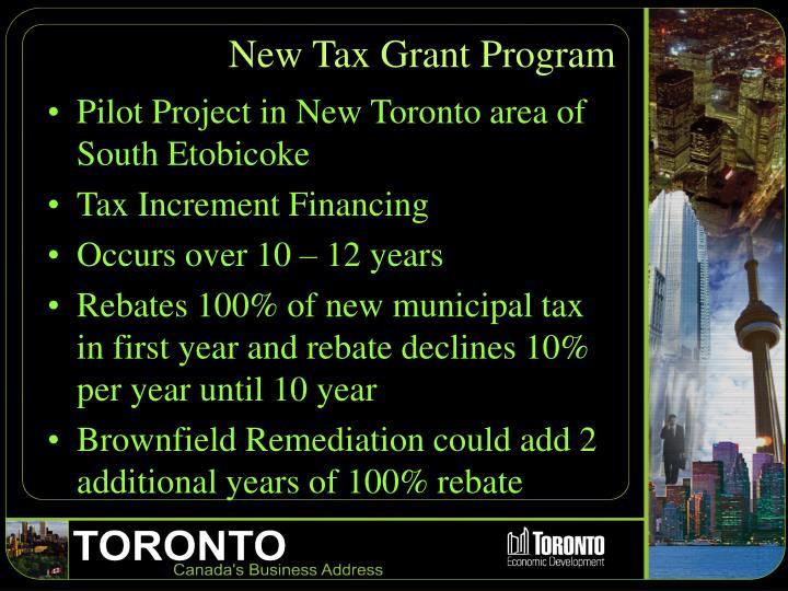 New Tax Grant Program