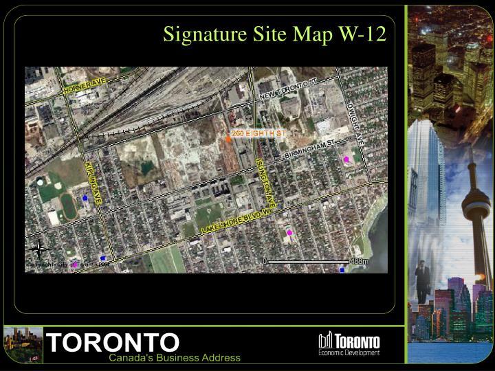 Signature Site Map W-12