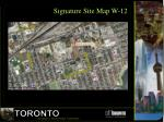 signature site map w 12