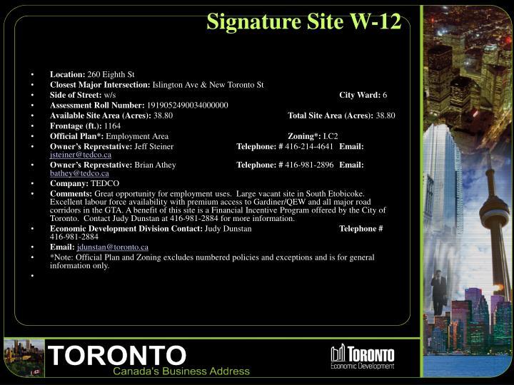 Signature Site W-12