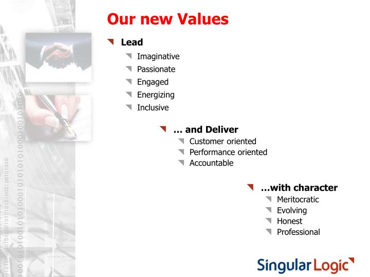 Our new Values