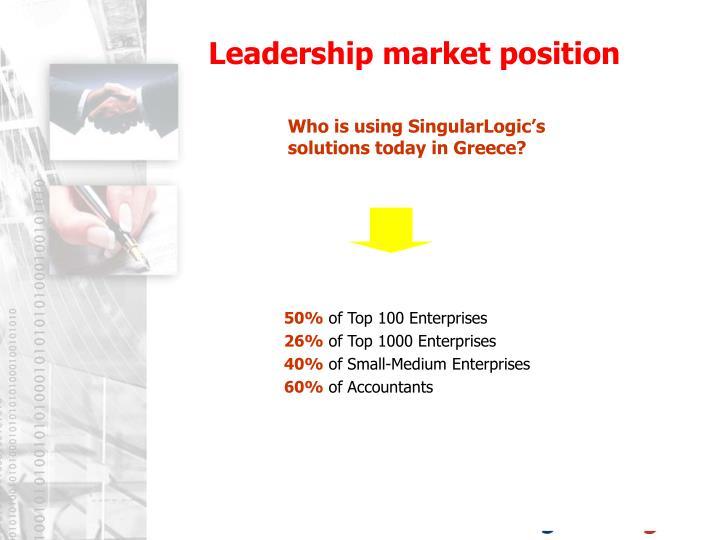 Leadership market position