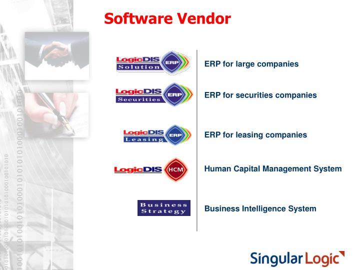 Software Vendor