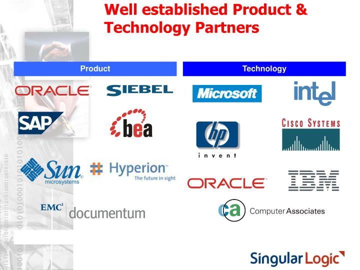 Well established Product & Technology Partners