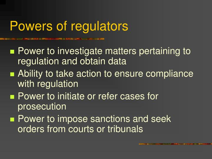 Powers of regulators