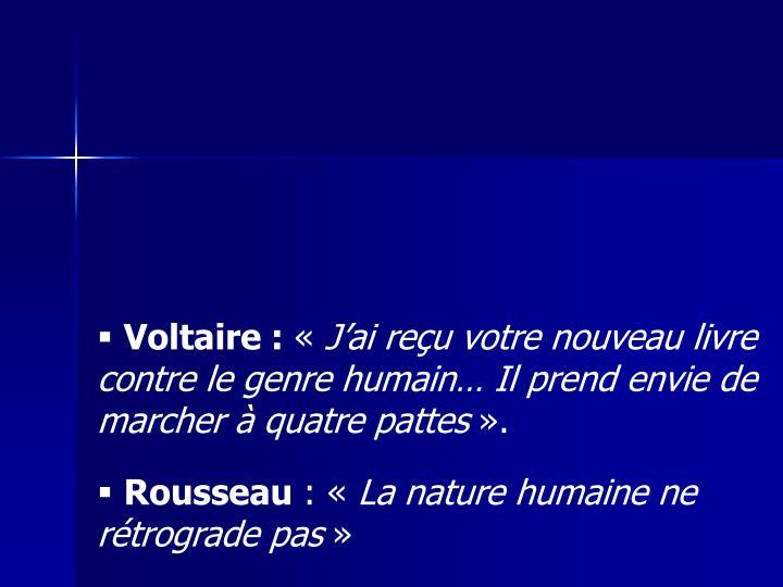 Voltaire :
