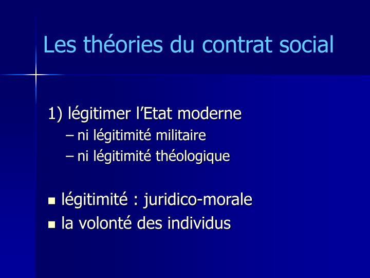Les théories du contrat social