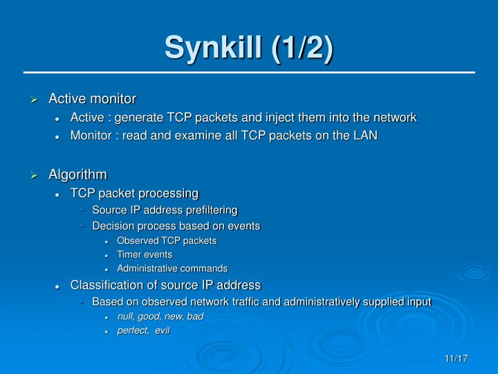 Synkill (1/2)