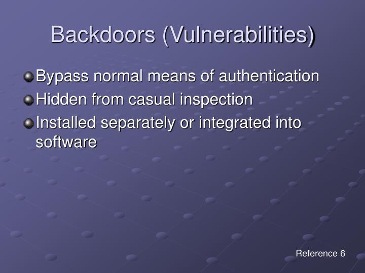 Backdoors (Vulnerabilities)