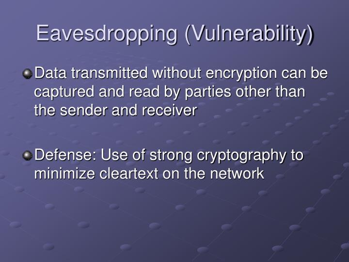 Eavesdropping (Vulnerability)