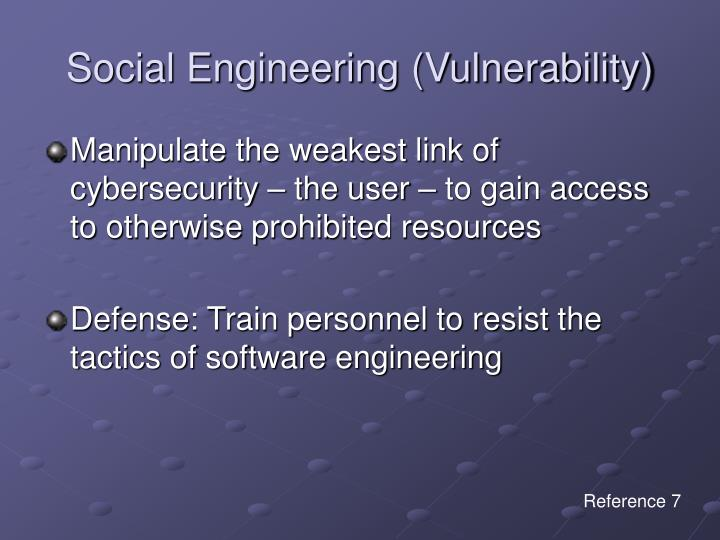 Social Engineering (Vulnerability)