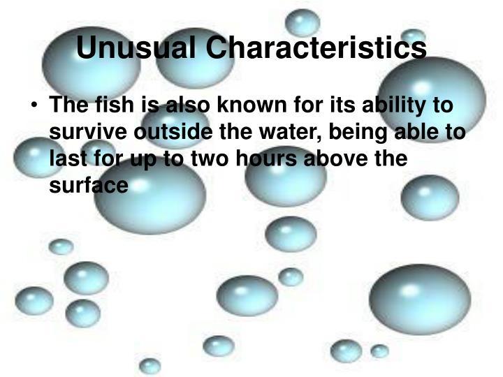 Unusual Characteristics