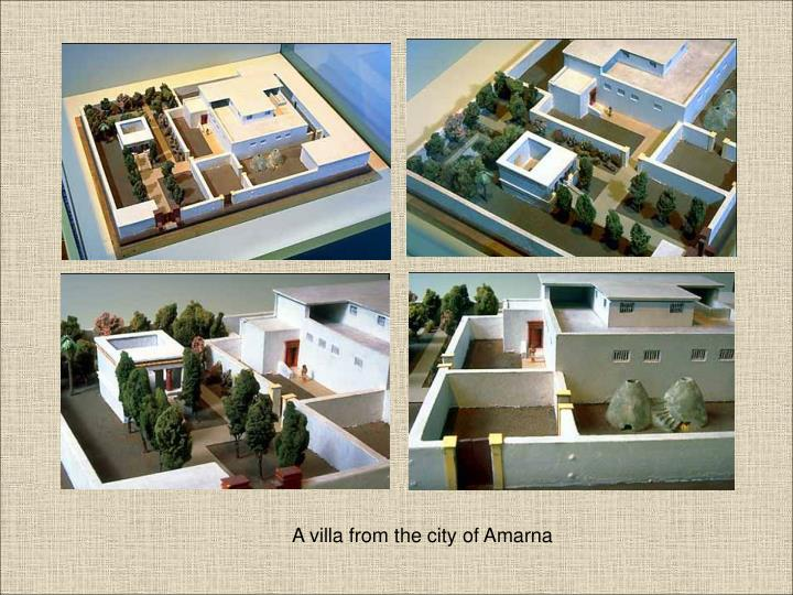 A villa from the city of Amarna