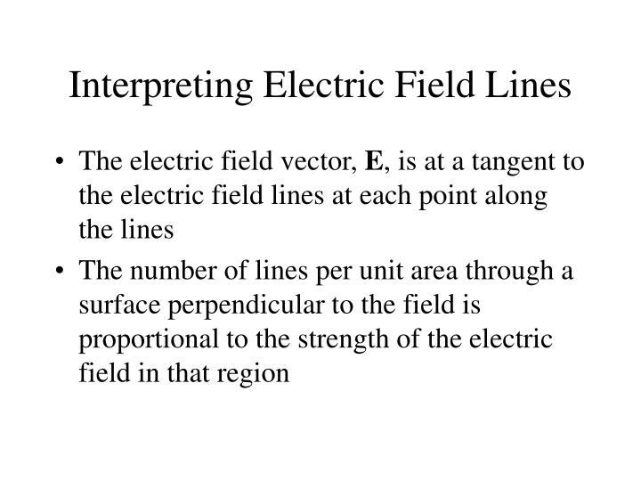 Interpreting Electric Field Lines