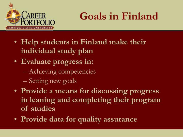 Goals in Finland