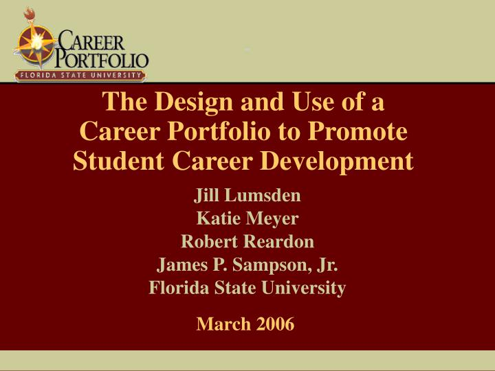 the design and use of a career portfolio to promote student career development