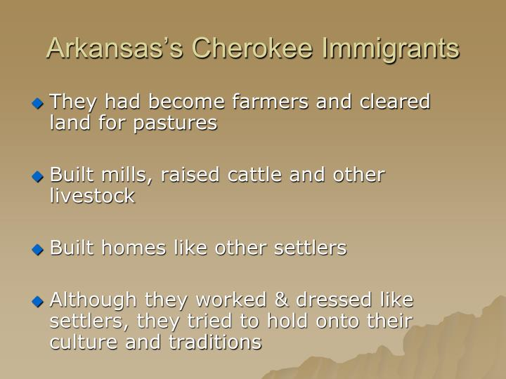 Arkansas's Cherokee Immigrants