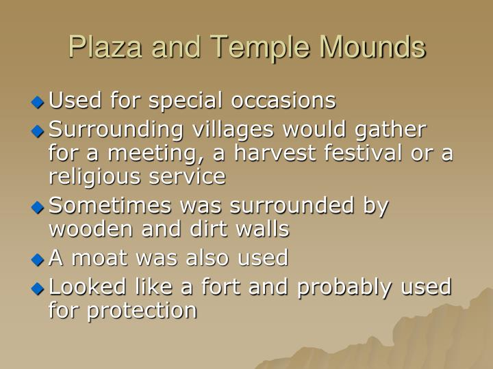 Plaza and Temple Mounds