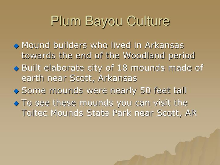 Plum Bayou Culture