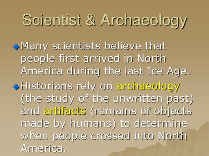 Scientist archaeology