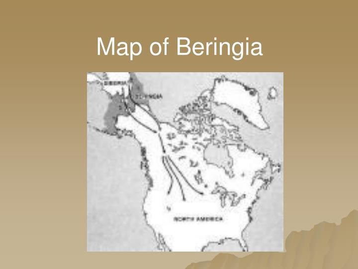 Map of Beringia