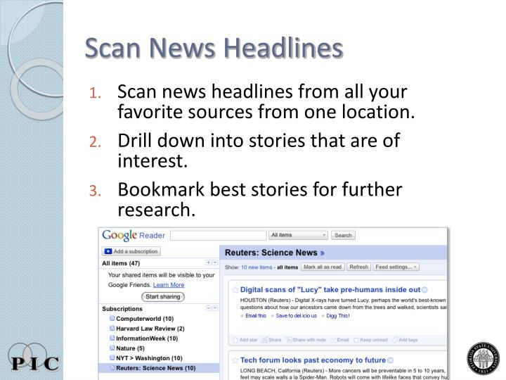 Scan News Headlines