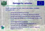 damage by vehicles