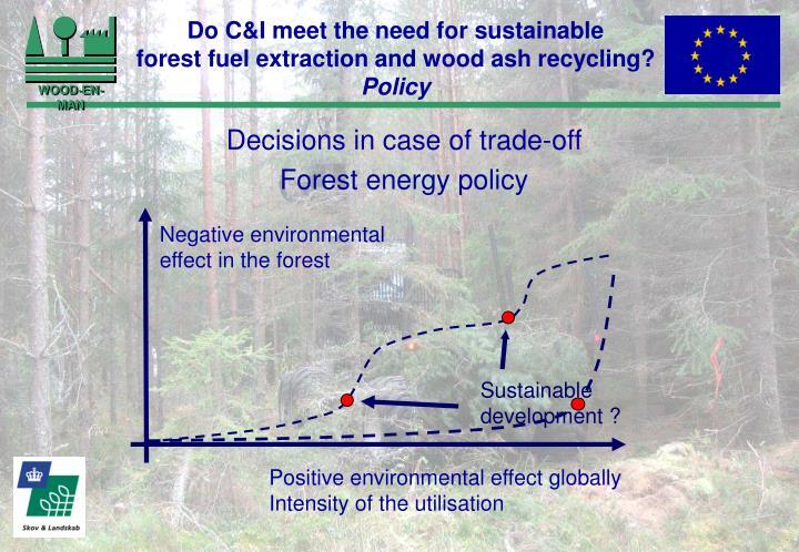 Sustainable development ?