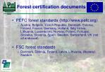 forest certification documents