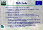 fsc criteria