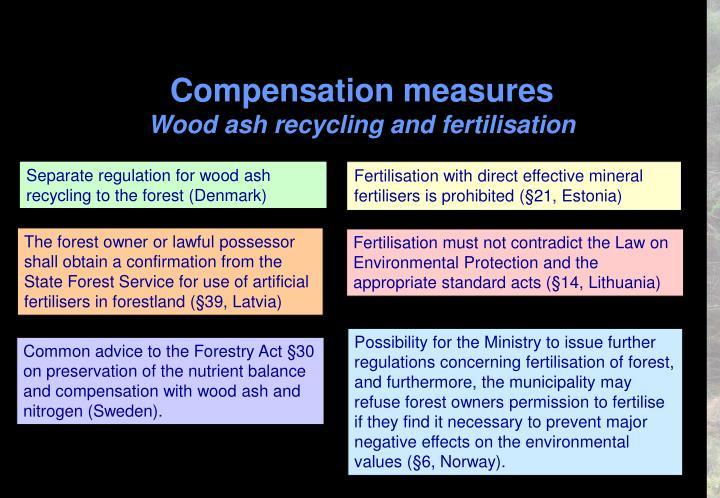 Compensation measures